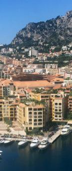 Monaco & its 3 corniche roads